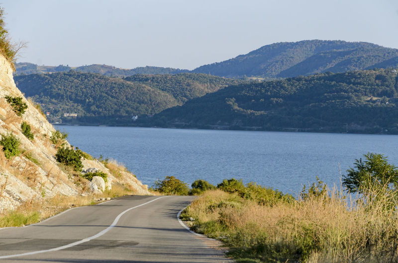 Road to the river Danube River Day Landscape Mountain Nature No People Outdoors River Road Scenics Sky Tranquil Scene
