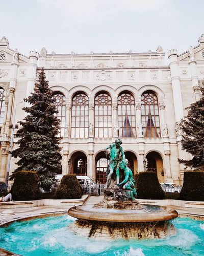 MAYBE EVERY FOUNTAIN IS MAGICAL EyeEmNewHere Aquietstyle Hippomag Photosinbetween Shootandshare Lightzine Colorcrush Water City Swimming Pool Fountain Architecture Building Exterior Built Structure History Historic Building First Eyeem Photo