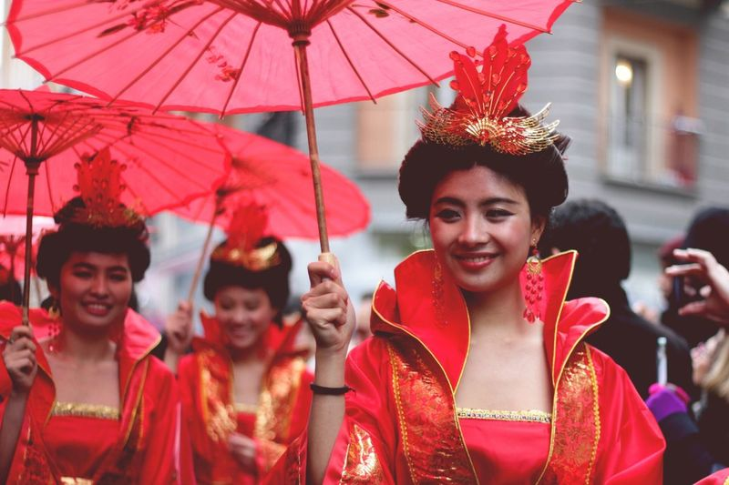 People in traditional clothing