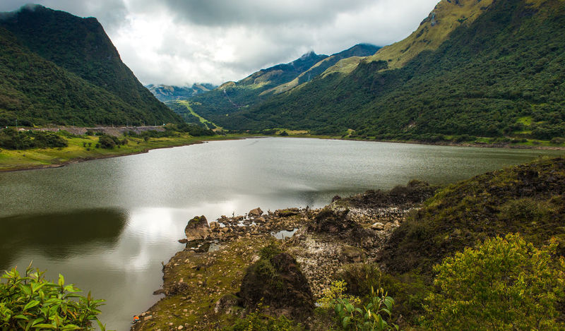 Ecuador Banos Baños Beauty In Nature Cloud - Sky Countryside Day Ecuador Geology Green Green Color Idyllic Lake Majestic Moss Mountain Mountain Range Nature No People Non-urban Scene Outdoors Remote Scenics Sky Tranquil Scene Water
