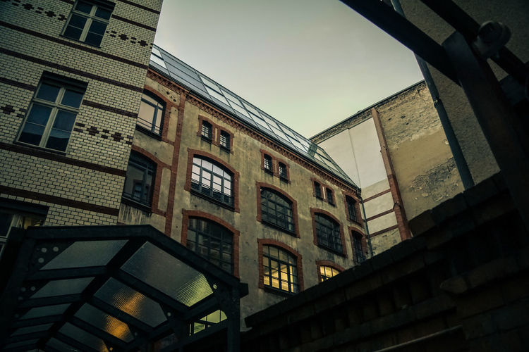 Courtyard between Münzstreet and Dircksenstreet Architectural Feature Architecture Berlin Berlin Courtyards Berlin Mitte Berlin Photography Building City Life Courtyard  Evening Sky Gründerzeit Historical Industrialization Low Angle View No People