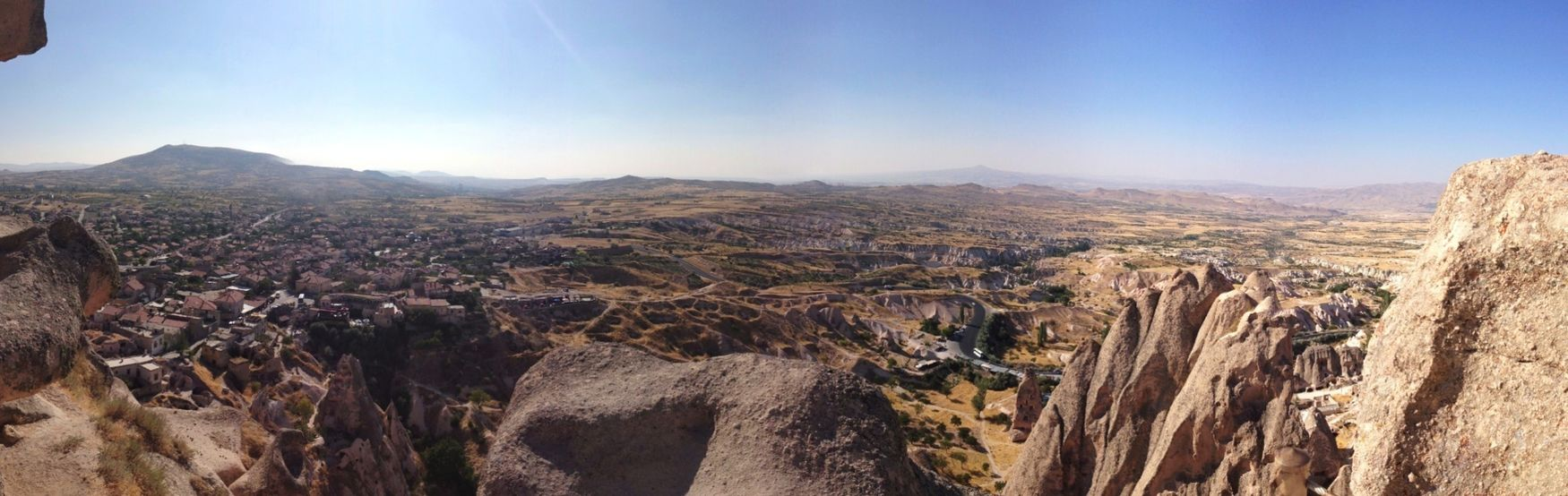 View from Uchisar Castle Castle Kapadokya Cappadocia Turkey