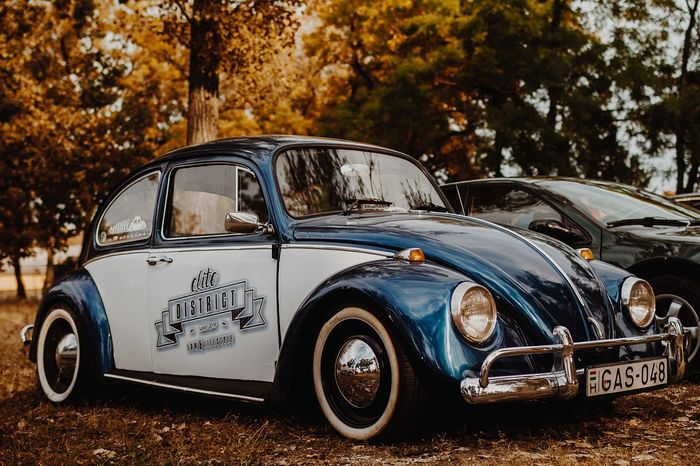 Car Old-fashioned Retro Styled Outdoors No People Vintage Car Old-fashioned Caremblem Volkswagen Beetle