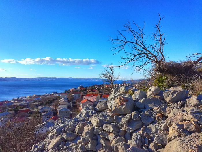 Karlobag Croatia Karlobag Sea Beach Day Sky Horizon Over Water Blue Water No People Beauty In Nature Clear Sky Outdoors Flower Nature
