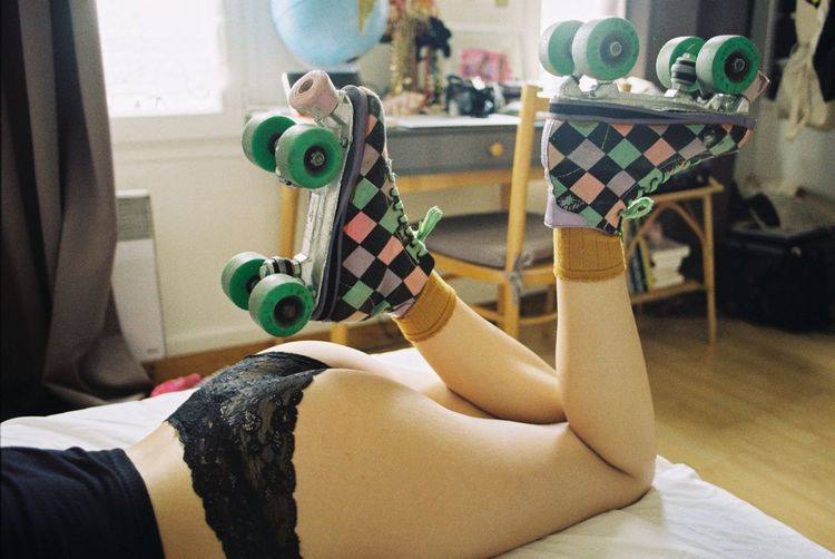 Roller roller Rollerskates Girls Legs Lazy My Favorite Photo Analogue Photography