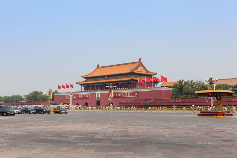 Beijing, China - Jun 20, 2016 : Scene of the Tiananmen of Beijing. Architecture ASIA Beijing Beijing, China China Day Haze Landmark Mainlandchina Outdoors Smog Square Summer Tiananmen  Tiananmen Square Tourism Travel Travel Destinations