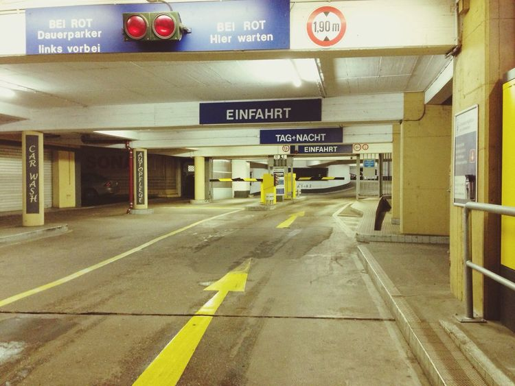 Mannheim Smartphonephotography Parking Parkhaus Parking Garage Night Paint The Town Yellow