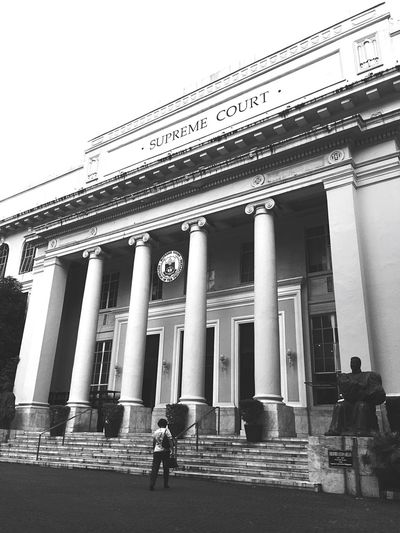 Supreme Court of the Philippines. Built Structure Entrance Court Of Justice Philippines Welcome To Black