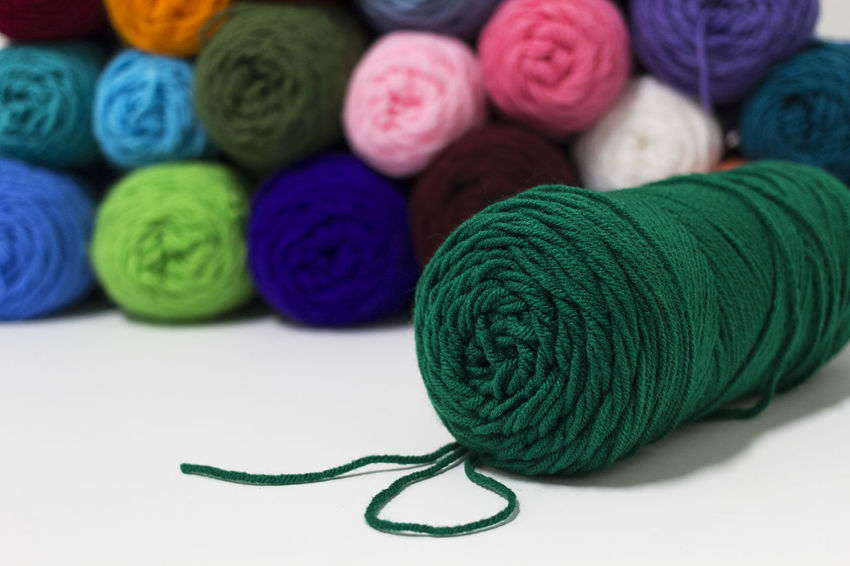 Creativity Green Green Color Knitting Art Art And Craft Cozy Craft Create Crochet Fiber Green Color Handmade Hobbies Hobby Multi Colored Texture Warm Wood - Material Wool Yarn