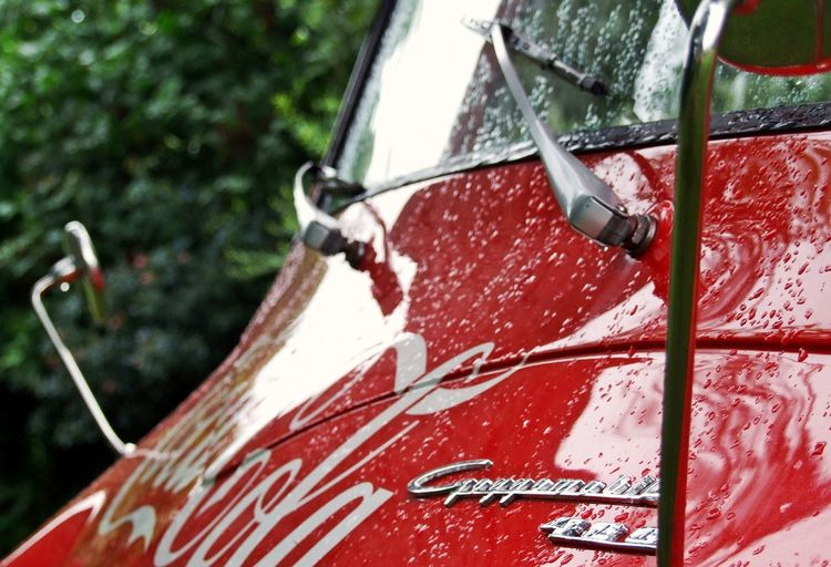 Close-up Coka Cola Day Focus On Foreground German Engineering Goggomobil No People Oldtimer Outside Part Of Plants Red