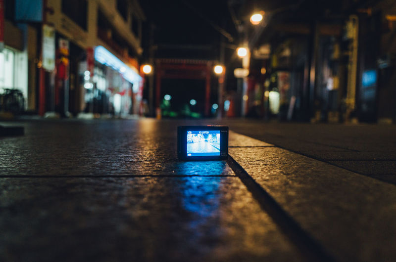 TOKYO TOKYO Old Meets New Japan Lovers Camera Japan Low Angle View Memories Taking Photos Tokyo Travel Action Cam Action Camera Architecture Close-up Communication Floor Illuminated Indoors  Night Night View No People Photographer Shooting Simplicity Taking Video Travel Destinations