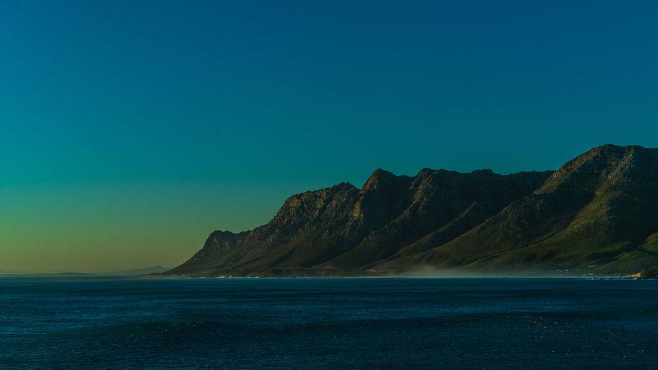 False Bay Mountain Views South Africa False Bay Hermanus Mountain Range