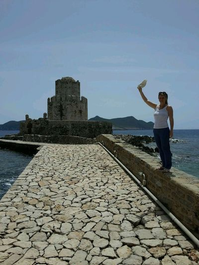 Quality Time Methoni Blue Messinia Enjoying The Sun Sea Greece Kastle_of_methoni Kastle Summertime