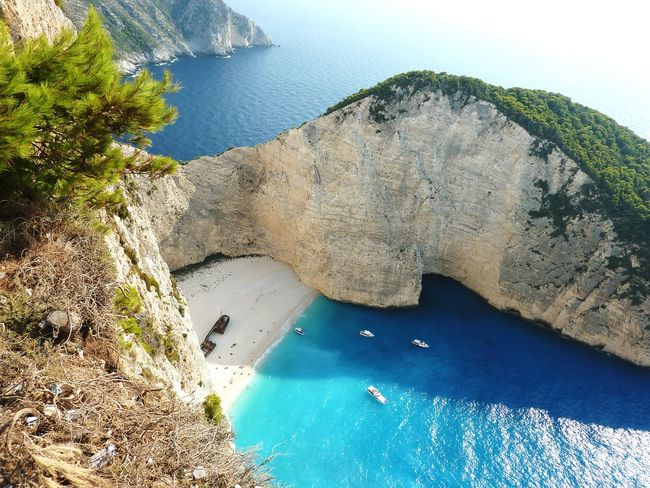 Shipwreck Bay Zakynthos Water Nature Beach Summer Heat - Temperature Sand Sea Beauty In Nature Landscape Turquoise Water Relaxing At The Beach Scenic Beauty Greek Island