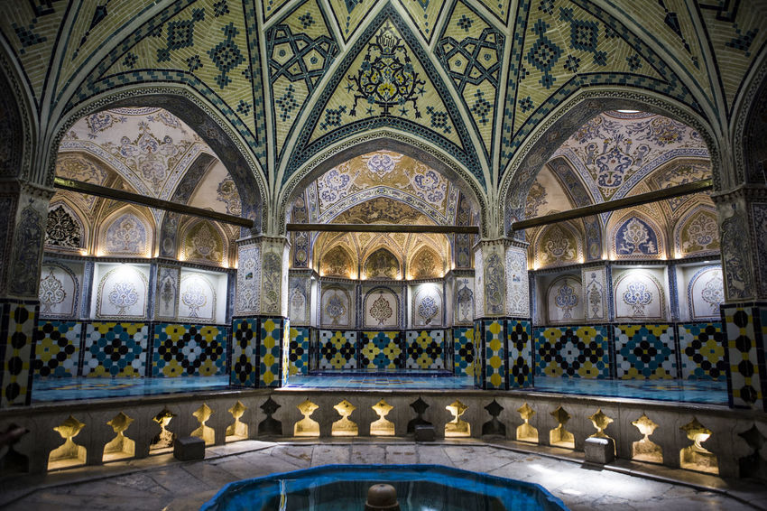 This building is historical bathroom and made in Qajar Age . Before 1800 . Arch Architecture Architecture Built Structure Historical Historical Building History Indoors  Iran Kashan No People Soltan Amir Ahmad Bathroom The Architect - 2017 EyeEm Awards The Great Outdoors - 2017 EyeEm Awards Tourist Destination Travel Destinations Live For The Story Breathing Space Colour Your Horizn
