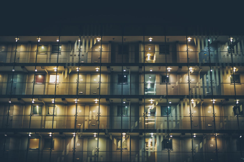 Architecture Backgrounds Building Exterior Full Frame Illuminated Indoors  Lighting Equipment Night No People Reflection