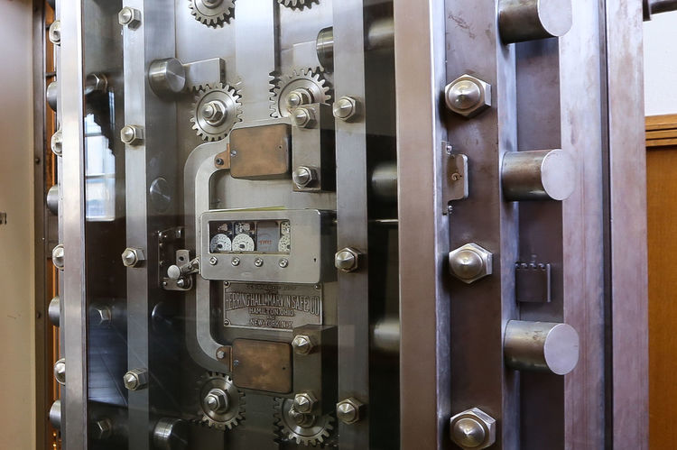 Bank vault detail Bank Bank Vault Close-up Door Indoors  Metal Safety Security
