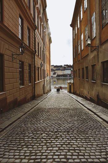 Sweden Stockholm Cobblestone Narrow Street