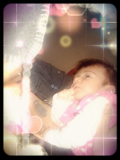 My baby girl(: Taking Photos Enjoying Life Babies ♥♥♥ Me And My Baby Girl First Eyeem Photo