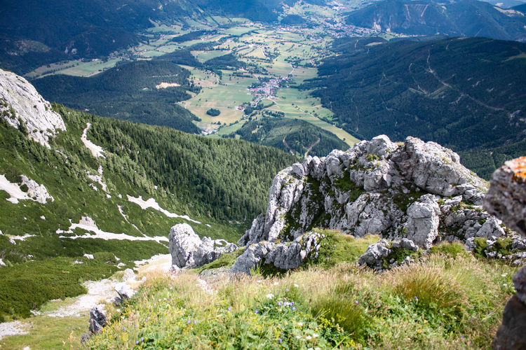 Schneeberg High Above Village From Above Mountain Mountain Peak Mountain View Berge Österreichs Berg Dorf Mountain Tree Pinaceae Landscape Mountain Range Grass Cliff Rock Formation Eroded Mountain Road Pine Tree Mountain Ridge Pine Woodland