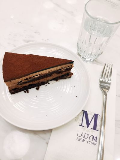 Lady M cake Dessert EyeEm Selects Food And Drink Plate Food Sweet Food Indulgence Fork Cake