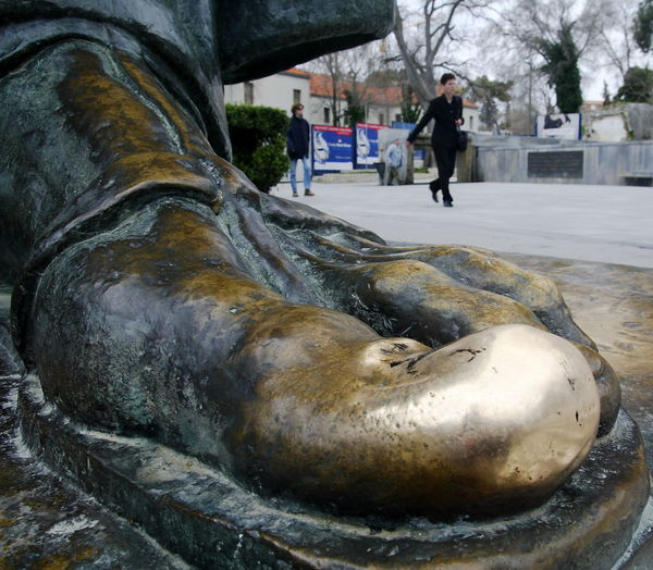 Adult Big Toe Bronze Bronze Sculpture Bronze Statue Day Gregorius Of Nin Gregorius Of Nin Statue Gregory Of Nin Gregory Of Nin Statue Grgur Ninski Grgur Ninski Statue Ivan Mestrovic Outdoors Park Park Josipa Jurja Strossmayera People Real People Sculpture Statue