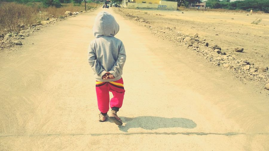 walking alone on hot winters Rare Beauty Babygirl Baby Nature Winter Sweater Walking Alone... Winter Fashion Fashion Stories Rear View Sand One Person Full Length People Children Only Walking