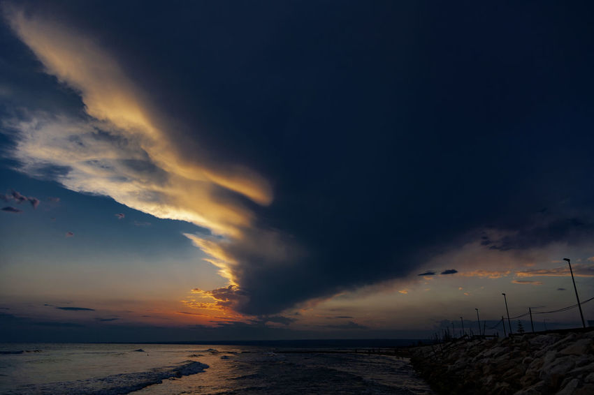 #aftersunset Meer Santa Maria Del Focallo Sicily, Italy Beach Beauty In Nature Cloud - Sky Dramatic Sky Land Landscape Nature No People Outdoors Scenics - Nature Sea Sky Storm Sunset Tranquil Scene Tranquility Water HUAWEI Photo Award: After Dark