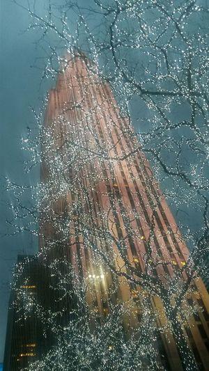 Rockefeller Center at night..