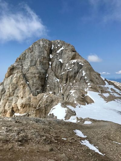 Dolomites, Italy Sky Beauty In Nature Cloud - Sky Scenics - Nature Tranquility Rock Tranquil Scene Nature Day Rock Formation Non-urban Scene Landscape Rock - Object Mountain No People Snow Geology