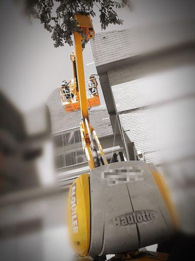 Working Forklift Lifestyle Haulotte Machine Twoperson Laalhondigapark Spain🇪🇸 Madrid