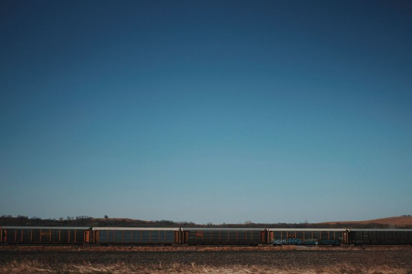 Deceptively Simple Train Locomotive Freighttrain Traintracks Kansas MidWest Skyline Minimal Minimalism