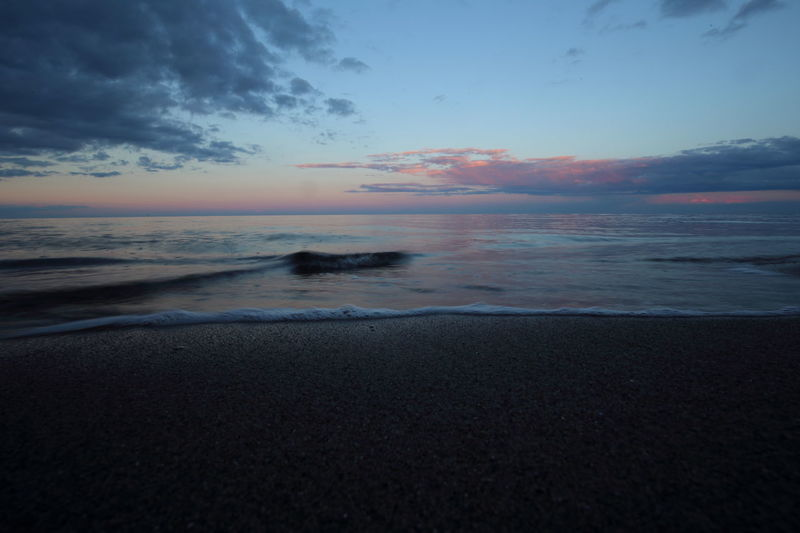 Baltic Sea Beach Betterlandscapes Blue Hour Dark Dusk Eye4photography  EyeEm Best Shots EyeEm Gallery EyeEm Nature Lover Germany Horizon Over Water Landscape Last Light Nature Nightfall Ocean Sand Scenics Sea Shore Sunset Water Waterline Wave