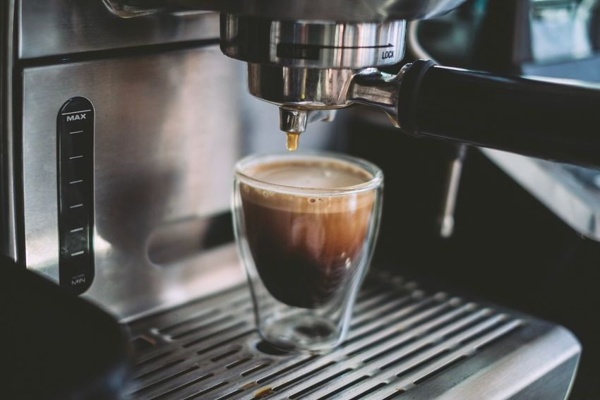 Coffee - Drink Coffee Cup Espresso Maker Drink Espresso Preparation  Food Stories Making Machinery Cappuccino Pouring Close-up Food And Drink Freshness Shot Glass Refreshment Drop No People Indoors
