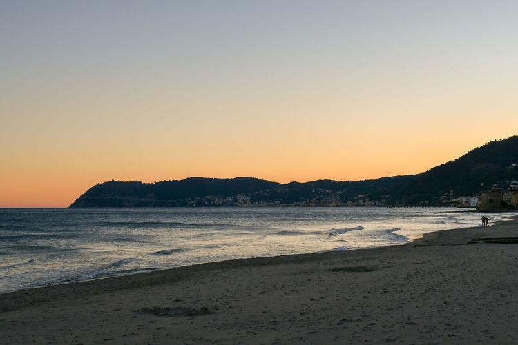 Empty beach at