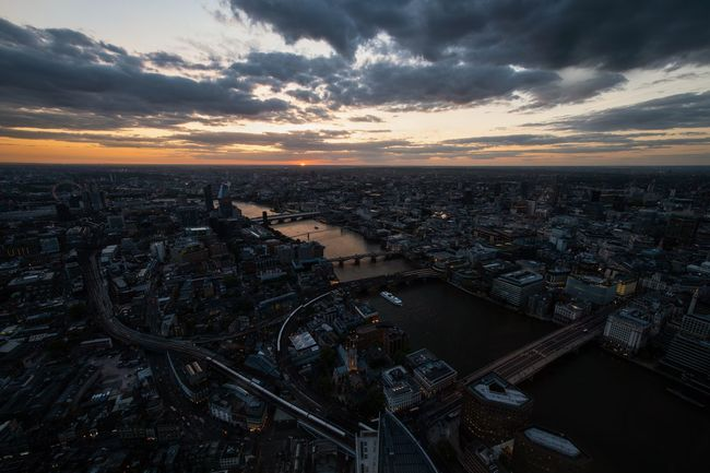 London Bridge City Cityscape Dramatic Sky Modern River Thames Aerial View Bridge Bridge - Man Made Structure Capital Cities  High Angle View Residential District River Skyscraper Sunset Travel Destinations View From The Shard Water The Architect - 2018 EyeEm Awards