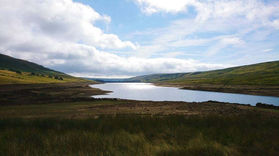 Reservoir Country Life Nidderdale Little Whernside Viewpoint View Clouds Clouds And Sky Sun Light Walking Water Water Reflections Water Lake Mountain Nature Reserve Sky Landscape Cloud - Sky Grass Dramatic Landscape Wilderness Moor  Dam