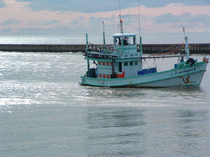 Day Mode Of Transport Nature Nautical Vessel No People Outdoors Sea Sky Transportation Water Pak Nam Lang Suan chumphon Thailand estuary