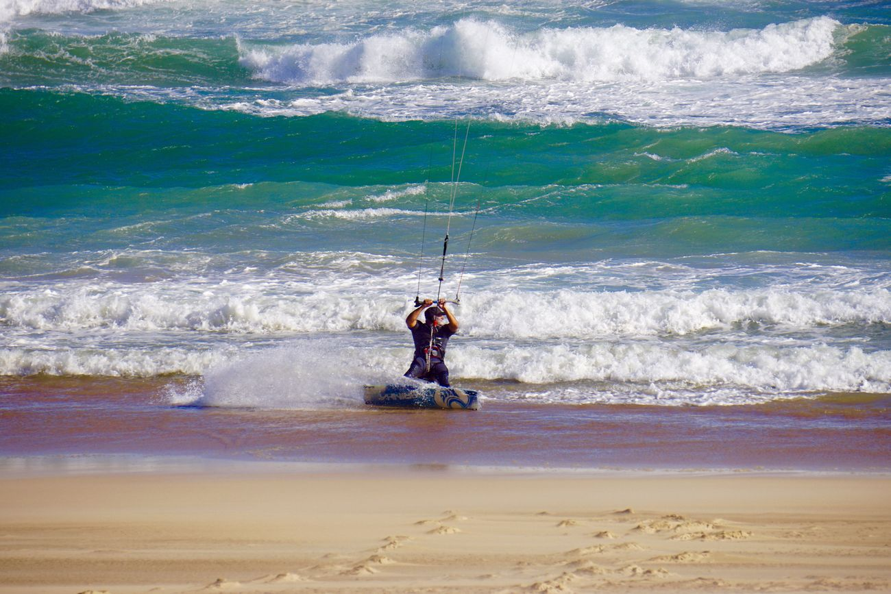 Ocean Waves Kitesurfing Adventure South Africa Freedom Awesome Nature