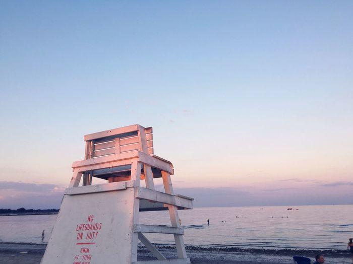 EyeEm Selects Beach Lifeguard Hut Lifeguard  Water Sand Sky Outdoors
