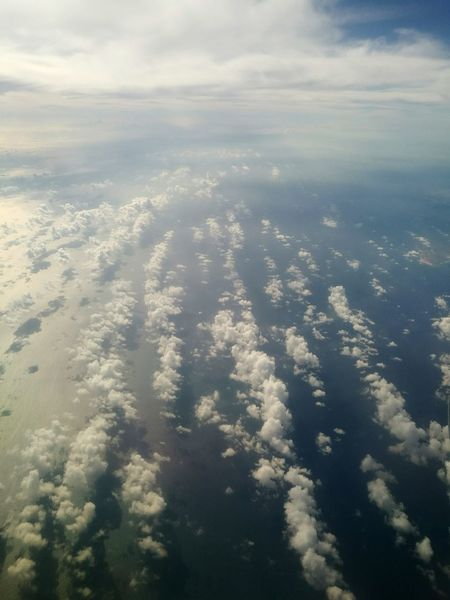Sea View Clouds Sea Sea From Above Plane View Cloud Meadow
