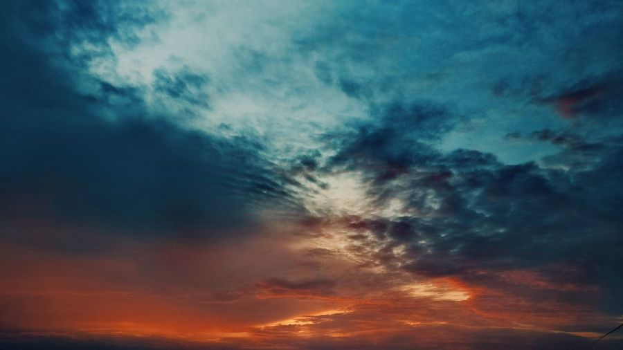 Dramatic Sky Cloud - Sky Weather Sunset Sky Backgrounds No People Low Angle View Blue Scenics Sky Only Outdoors Shade Of Sky Photography Landscape