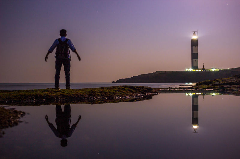 It's Lit! Reflection Water Standing Illuminated Real People Horizon Over Water Outdoors Sea Night Nature Longexposure Capture The Moment Earthpix Earth Beach Scenics First Eyeem Photo The Great Outdoors - 2017 EyeEm Awards EyeEmNewHere Live For The Story