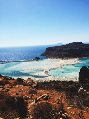 Balos Lagoon Lagoon Balos Sea Nature Beauty In Nature Clear Sky Beach Blue Tranquility Crete Greece