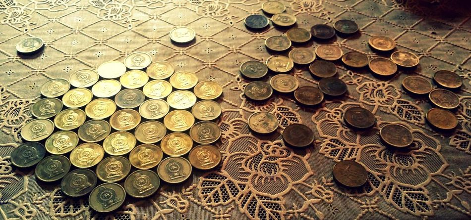 Coins On The Table Rupees Gold Coins Coins Coin Collection