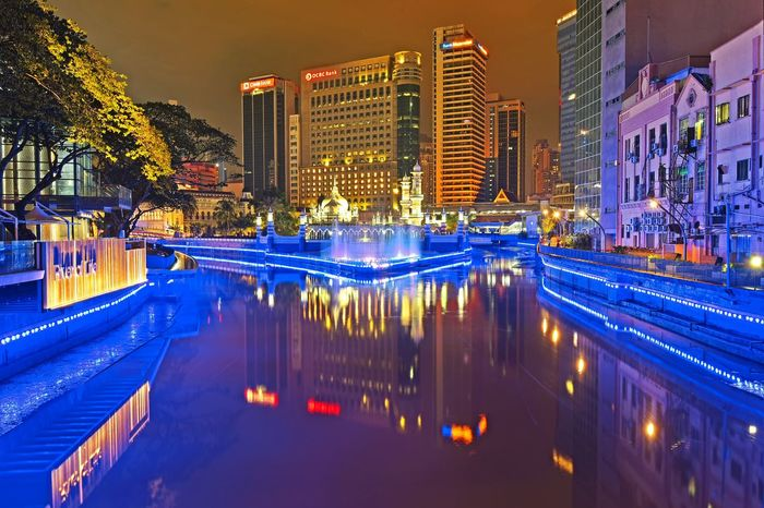 Reflection Nightphotography City Cityscape Light Getty Images EyeEm Best Shots EyeEm Selects Malaysia Kuala Lumpur Landscape Travel Outdoor Beauty EyeEm Gallery Beautiful Travel Destinations View Illuminated City Business Finance And Industry Ice Rink Architecture Office Building