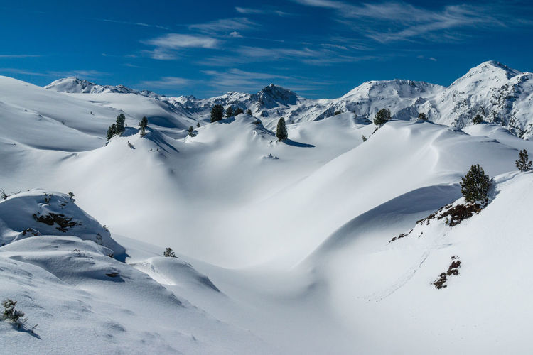 German snowy mountain landscape