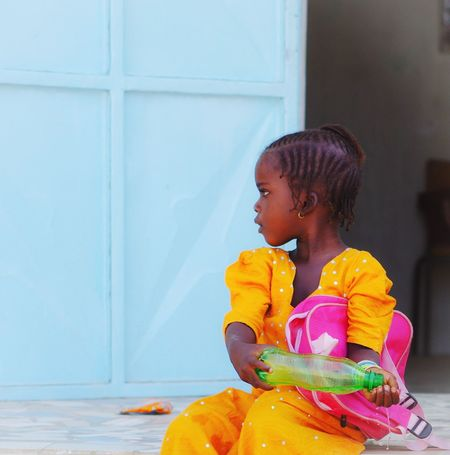 Color is Life Africa School Colorful Childhood One Person Real People Lifestyles Home Interior Cute Girls