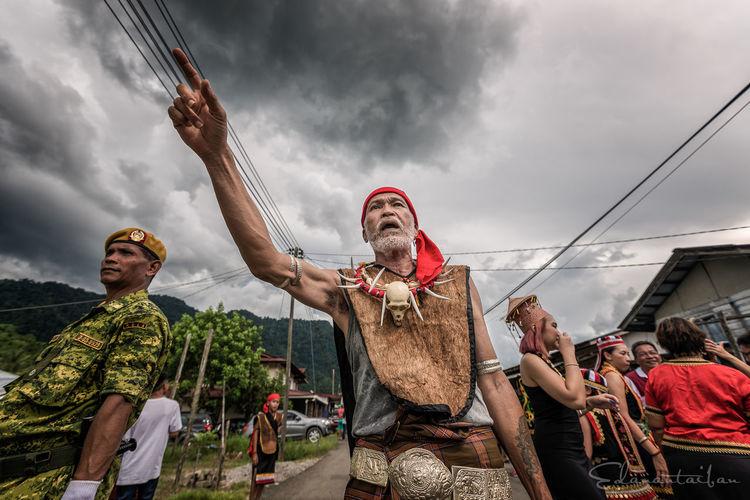 Celebration Cloudy Gawai K Kampung Ta Kuching Leader Person Villager Head