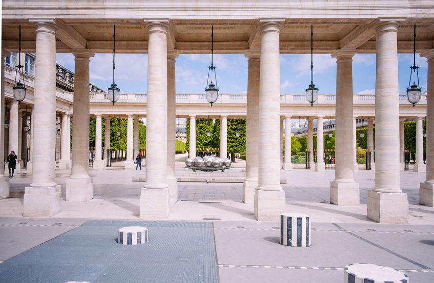 Le Palais Royal Architectural Column Architecture Architecture France Palais Royal Paris Spring Tourist Travel